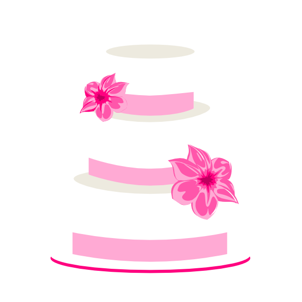 Cake Clip Art Pictures : Pink Wedding Cake Clip Art at Clker.com - vector clip art ...