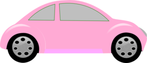 Light Pink Car Clip Art