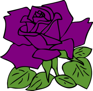 Rose on Purple Rose Clip Art   Vector Clip Art Online  Royalty Free   Public