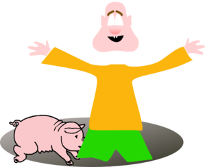 Hole With Pig Clip Art