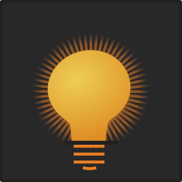 bright light bulb clip art at vector clip art online. Black Bedroom Furniture Sets. Home Design Ideas