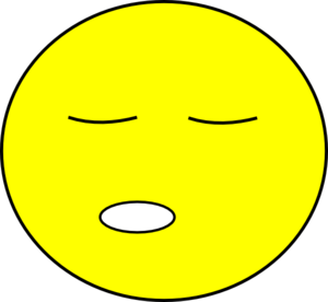Sleepy Smiley Clip Art
