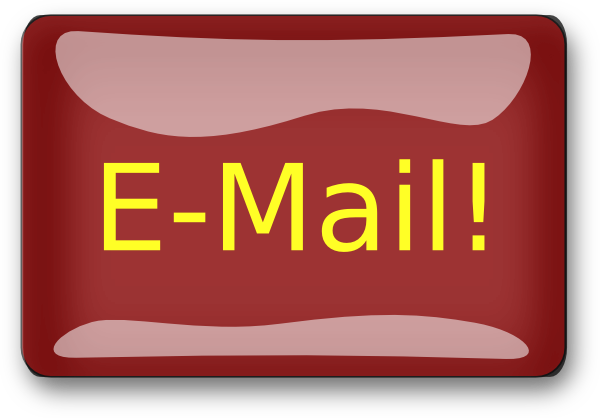 Red Rectangle Email Button Clip Art at Clker.com - vector clip art ...