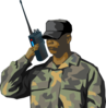 Soldier Communicating Clip Art