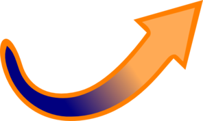 Blue-orange Arrow Clip Art