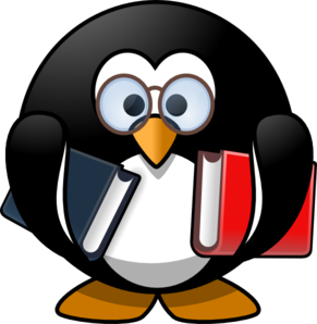 Wise Owl With Books Clip Art