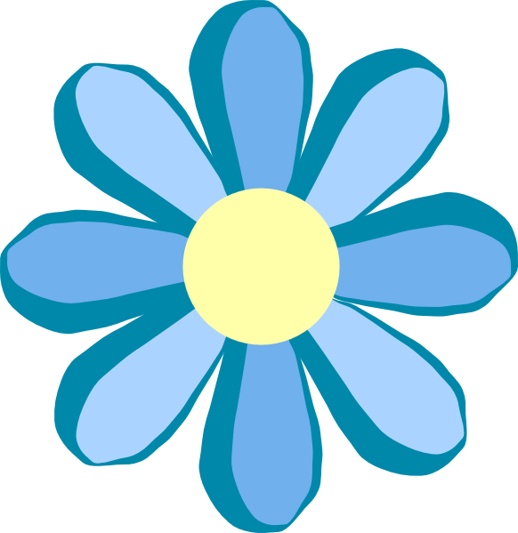 Blue Flower Clip Art at Clker.com - 47.0KB
