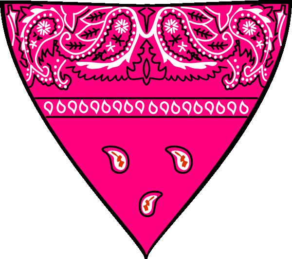 Pink Bandanna Clip Art At Clker Com Vector Clip Art