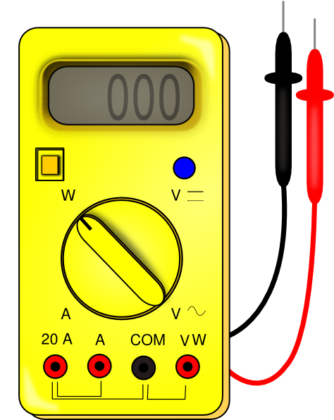 Multimeter Clip Art : Voltmeter clipart