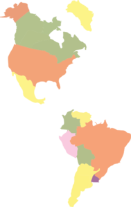 Map Of The Americas Clip Art