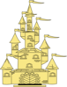 Golden Princess Castle Clip Art