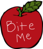 Bite Me Apple  Clip Art