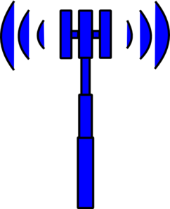 Blue Tower Clip Art