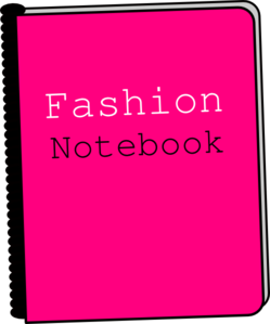 Fashion Notebook Clip Art