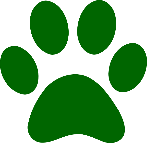 Green Paw Print Clip Art at Clker.com - vector clip art ...