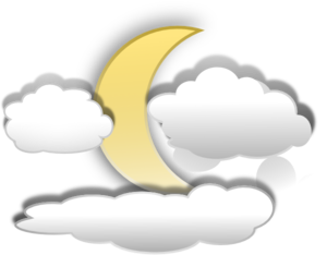 Moon And Clouds Clip Art