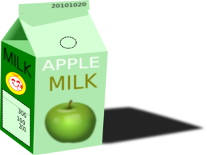 Apple Milk Clip Art