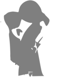 Mother And Child Gray Clip Art