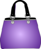 Purple Purse Handbag Clip Art