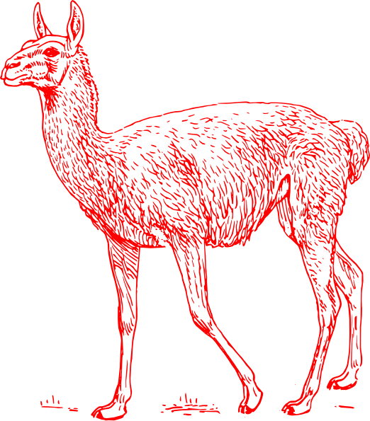 Llama Outline Download this image as: