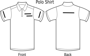Polo Shirt Lay Out Clip Art