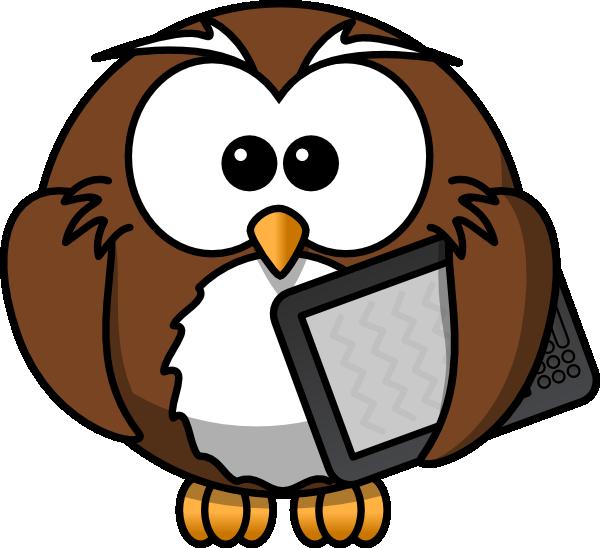 Owl With Tablet Clip Art at Clker.com - vector clip art ...