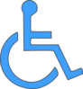 Wheelchair Symbol In Blue Clip Art