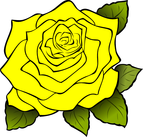 yellow rose clip art at clker com vector clip art online royalty rh clker com yellow rose clipart free yellow rose of texas clipart