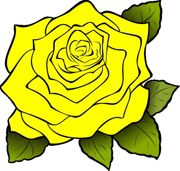 Yellow Rose Clip Art at Clker.com - vector clip art online, royalty ...