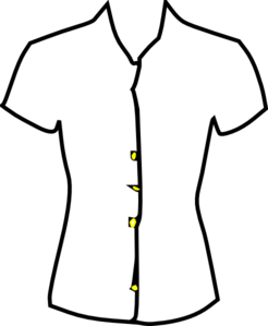 Ladies Shirt, Black And White Clip Art at Clker.com ...