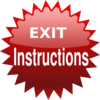 Red Exit Button Clip Art