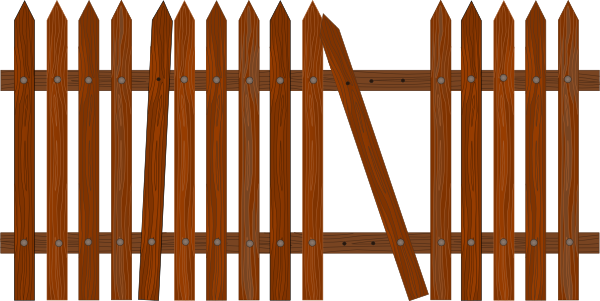 Broken fence clip art at clker vector