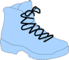 Light Blue Boot Clip Art