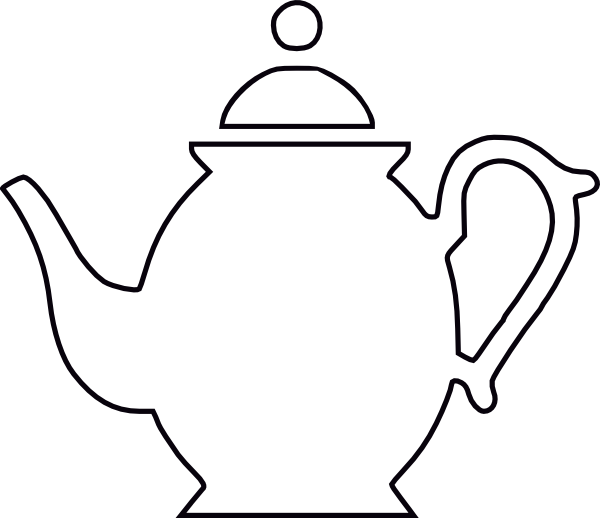 Teapot Black Outline Clip Art At Vector Clip