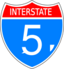 Interstate 5 Clip Art