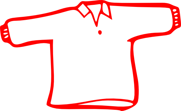 Red And White Long Sleeve t Shirt Red Long Sleeve Shirt Clipart