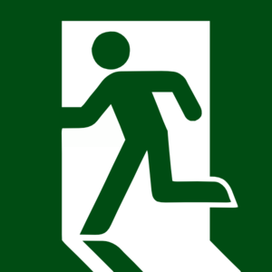 Emergency Exit Green Clip Art