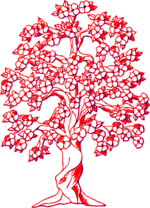 Red Tree  Clip Art