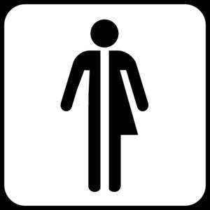 Unisex Bathroom Logo Clip Art