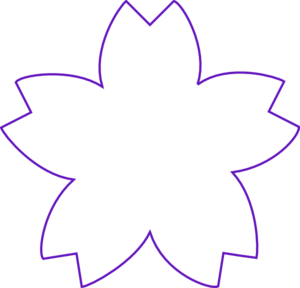 Flower Shape Purple Clip Art