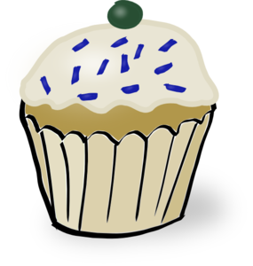 Cupcake With Sprinkles Clip Art