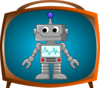 Robot On Tv Clip Art