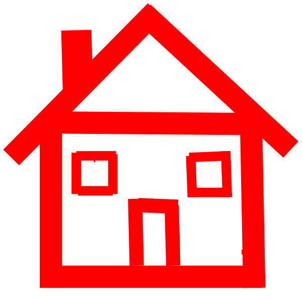 Red Stick House Clip Art at Clker.com - vector clip art ...