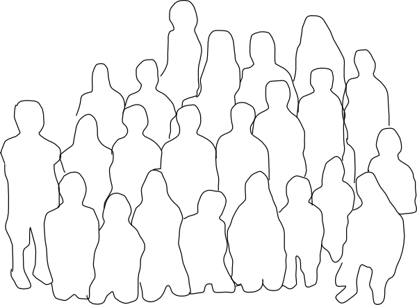Line Art Group : Group of people clip art at clker vector