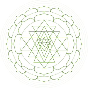 Shri Yantra - Black And White Clip Art
