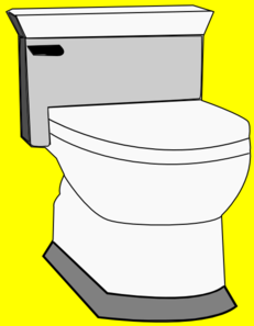 Water Closet-yellow Clip Art
