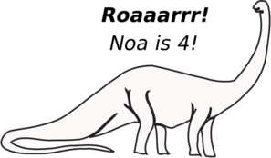 Brachiosaurus Outline Birthday Clip Art