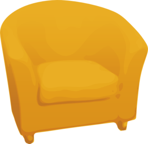 Yellow Arm Chair Clip Art