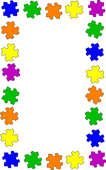 puzzle border clip art at clkercom vector clip art