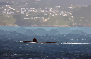 Uss Memphis (ssn 691) Heads Out To Sea Following A Brief Stop At This Eastern Mediterranean Port. Clip Art
